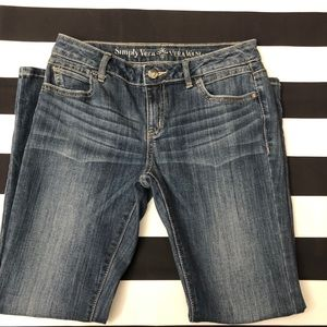 Simply Vera Wang 2P Roll Cuff Capri Jeans